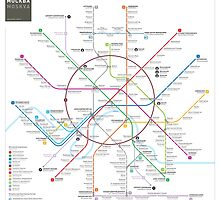 Moscow metro map by Jug Cerovic