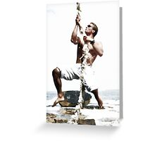 Maurice On Rope Greeting Card