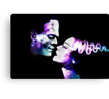 Dark Love Purple/Teal Canvas Print