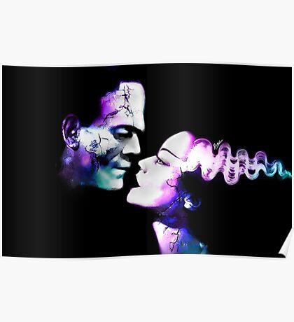 Dark Love Purple/Teal Poster