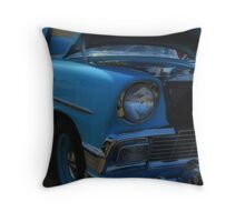 Turquoise 56  Chevy Throw Pillow