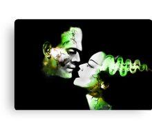 Dark Love Green Canvas Print