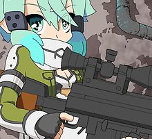 Sword Art Online II - Sinon and Hecate II by 57MEDIA