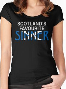 """Christopher Saynt """"Sinners are Winners""""  Women's Fitted Scoop T-Shirt"""