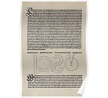 Measurement With Compass Line Leveling Albrecht Dürer or Durer 1525 0008 Basics Poster