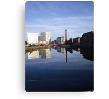 Liverpool Docks mirror landscape Canvas Print