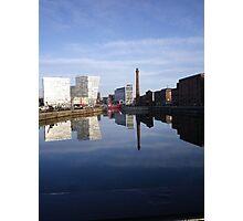 Liverpool Docks mirror landscape Photographic Print