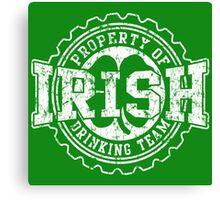 Irish Drinking Team Bottle Cap Canvas Print