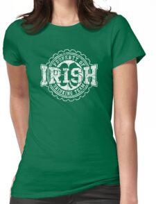 Irish Drinking Team Bottle Cap Womens Fitted T-Shirt