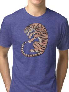 Asian Style Tiger No. 2 Tri-blend T-Shirt