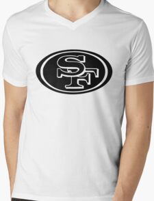 San Francisco 49ers logo 1 Mens V-Neck T-Shirt