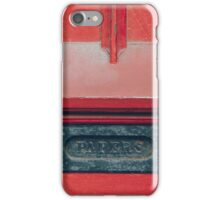 Papers iPhone Case/Skin