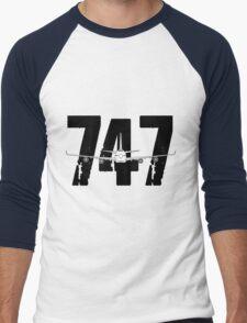 Boeing 747 Men's Baseball ¾ T-Shirt