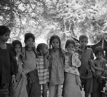 Children at a Tuareg Camp, Illela, Republic of Niger by Valarie Napawanetz