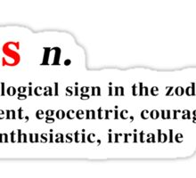Zodiac Definitions: Aries Sticker