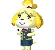 Pixel Isabelle Animal Crossing New Leaf Print by niymi