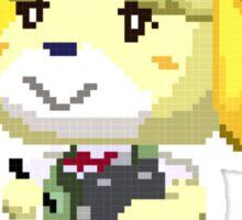 Pixel Isabelle Animal Crossing New Leaf Print Sticker
