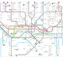 London tube map by Jug Cerovic