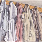 Coats on Hooks by Katherine Thomas