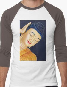 buddha face Men's Baseball ¾ T-Shirt