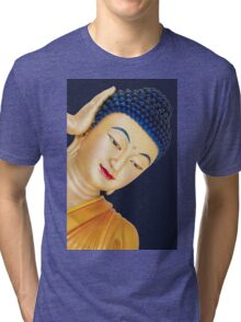 buddha face Tri-blend T-Shirt