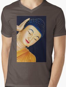 buddha face Mens V-Neck T-Shirt