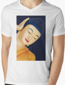 buddha face Mens V-Neck T-Shirt