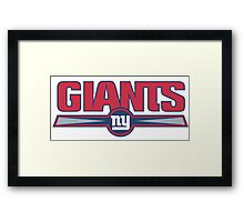 New York Giants logo 2 Framed Print