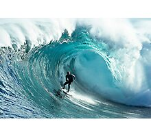 James Hollmer Cross on a monster at Shipstern Bluff Photographic Print
