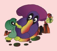 Ducklins Purple One Piece - Short Sleeve