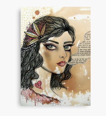 she only exists in ghost stories Canvas Print