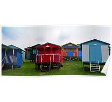 Beach Huts, Tankerton,UK Poster
