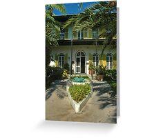 Hemingway's House in Key West Greeting Card