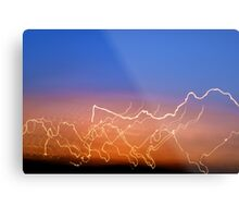 Driving by an electric sky Metal Print