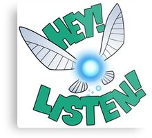 "Legend of Zelda: Ocarina of Time - Navi ""Hey! Listen!"" Metal Print"