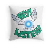"Legend of Zelda: Ocarina of Time - Navi ""Hey! Listen!"" Throw Pillow"