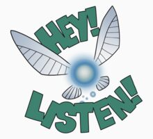 "Legend of Zelda: Ocarina of Time - Navi ""Hey! Listen!"" Kids Tee"