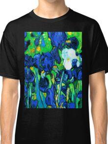 Van Gogh Garden Irises HDR Classic T-Shirt