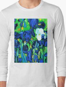Van Gogh Garden Irises HDR Long Sleeve T-Shirt