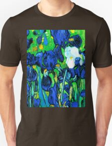Van Gogh Garden Irises HDR T-Shirt