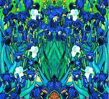 Van Gogh Garden Irises HDR by VintageEraArt