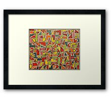 Shining Geometrics Framed Print