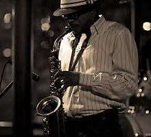 """Sax Player"" - Memphis, Tennessee by jscherr"