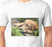 Log Chin Rest For Tuckered Pup Unisex T-Shirt