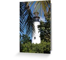 The Lighthouse in Key West, FL Greeting Card