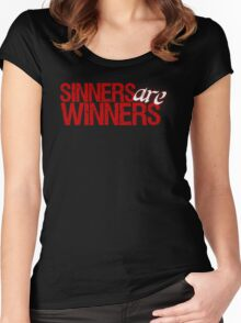 "Christopher Saynt ""Sinners Are Winners"" Women's Fitted Scoop T-Shirt"