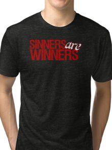 "Christopher Saynt ""Sinners Are Winners"" Tri-blend T-Shirt"