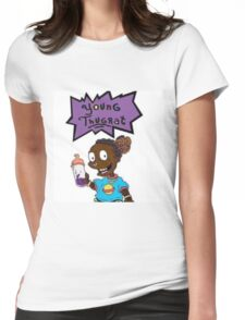 young thugrat Womens Fitted T-Shirt