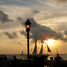 Sunset at Mallory Square in Key West, FL by Susanne Van Hulst