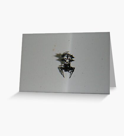 a unique spider Greeting Card